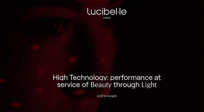 Lucibelle paris one page website example