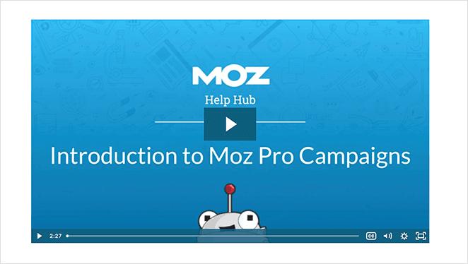 MOZ SaaS explainer video example