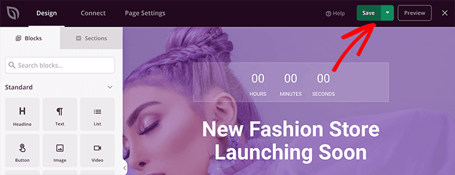 Save your woocommerce coming soon page