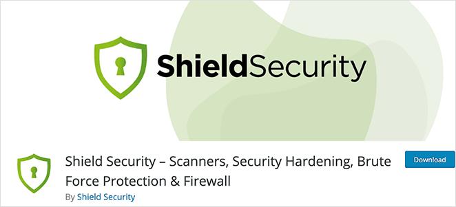 Shield security WordPress login plugin