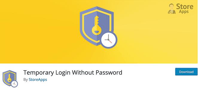 Temporary login without password free WordPress login plugin