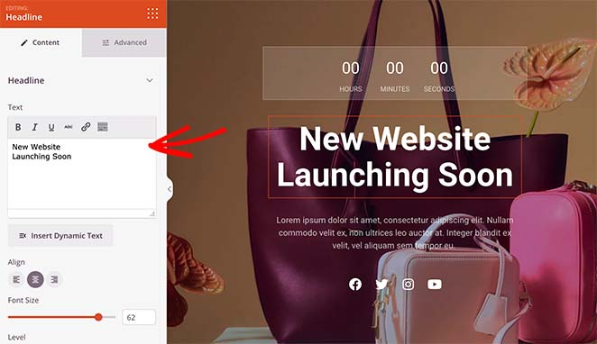 Customize your woocommerce coming soon page heading
