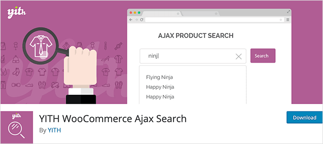 YITH WooCommerce Ajax search plugin